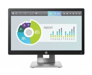 "HP EliteDisplay E202 50,8 cm (20"") 1600 x 900 Pixeles HD+ LED Negro, Plata"